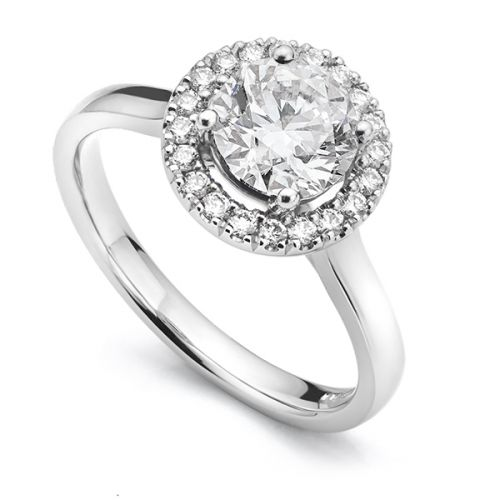 Single Halo Engagement Rings