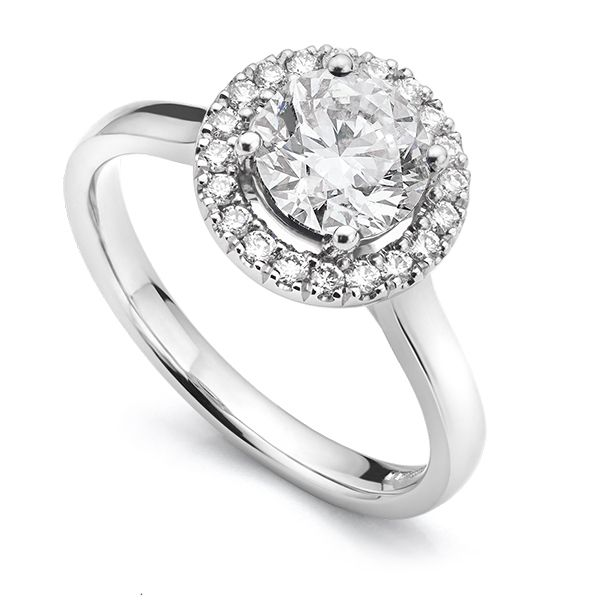 Eleanor Simple Shoulder Halo Ring Main Image