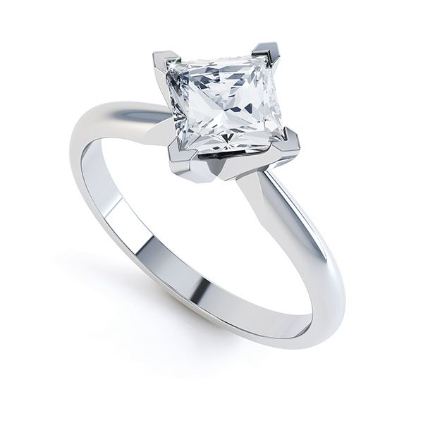 Ignis 4 Claw Princess Diamond Engagement Ring Main Image