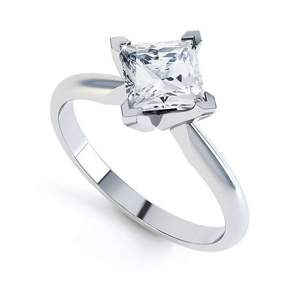 Ignis 4 Claw Princess Diamond Engagement Ring Main Image