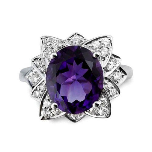 Amethyst & Diamond Rings