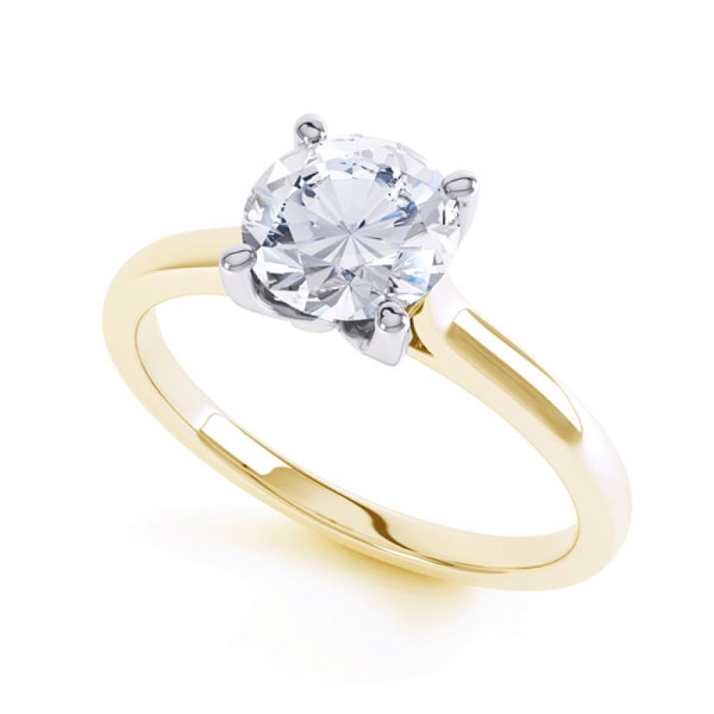 Beau - 4 claw solitaire diamoSimple four-claw solitaire in Yellow Goldnd engagement ring in yellow gold