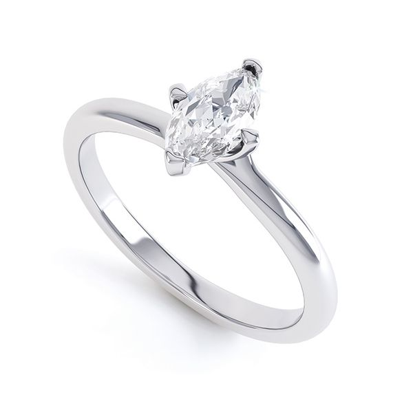4 Claw Marquise Twist Engagement Ring Main Image