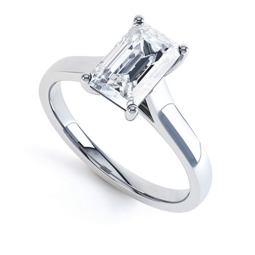 Emerald-Cut Solitaire