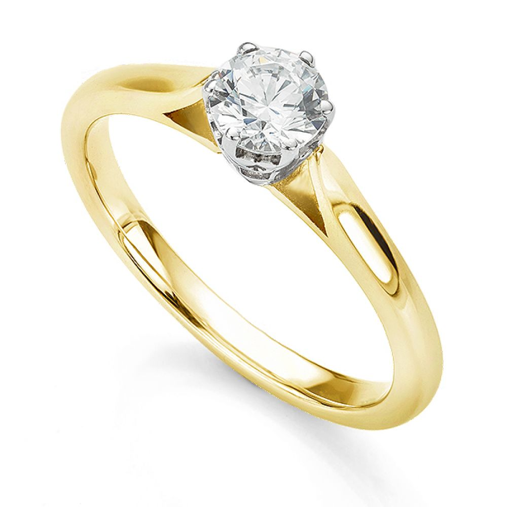 Beatrice engagement ring in yellow gold