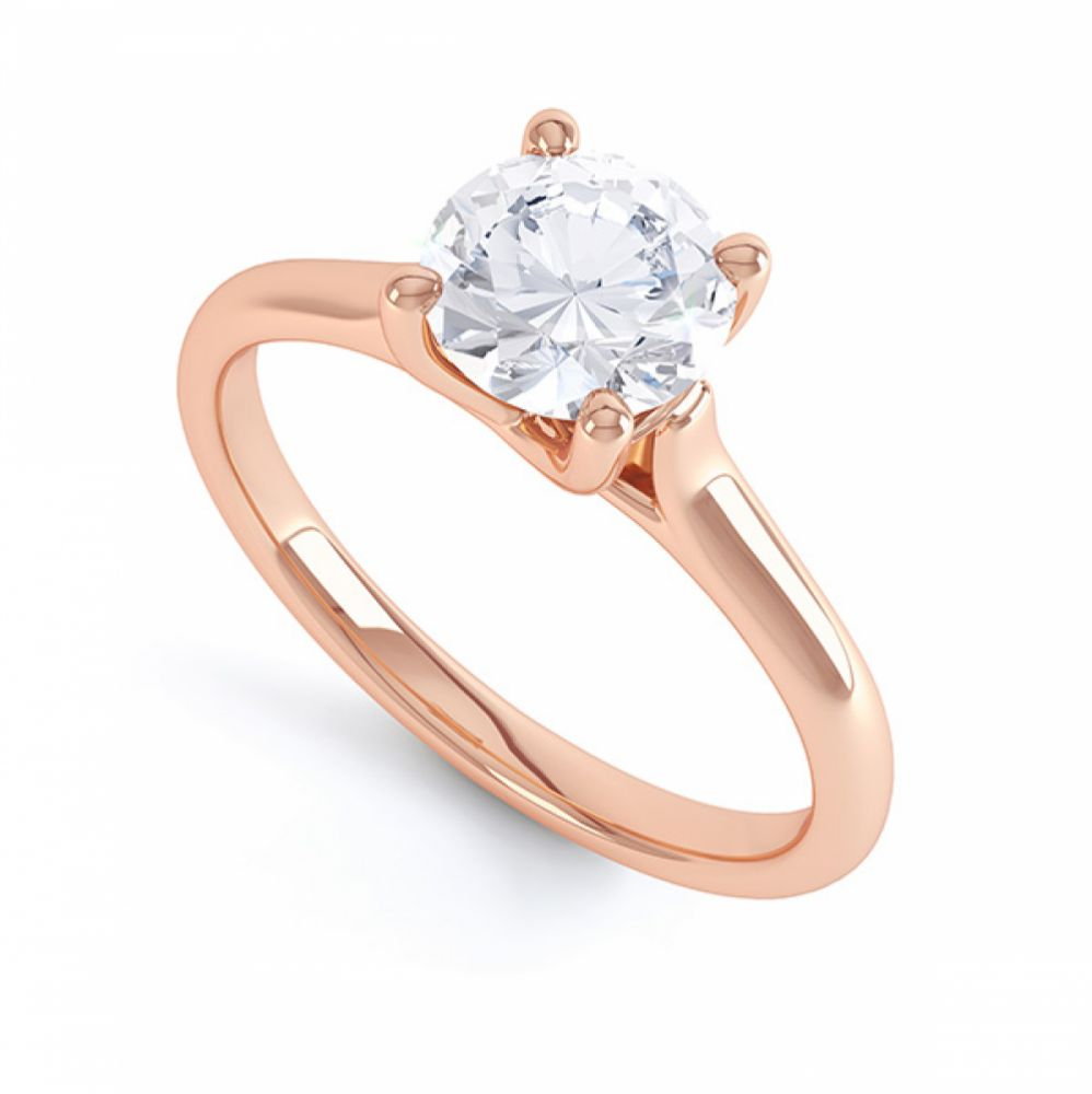 Sirius Round 4 Claw Solitaire Engagement Ring Side View