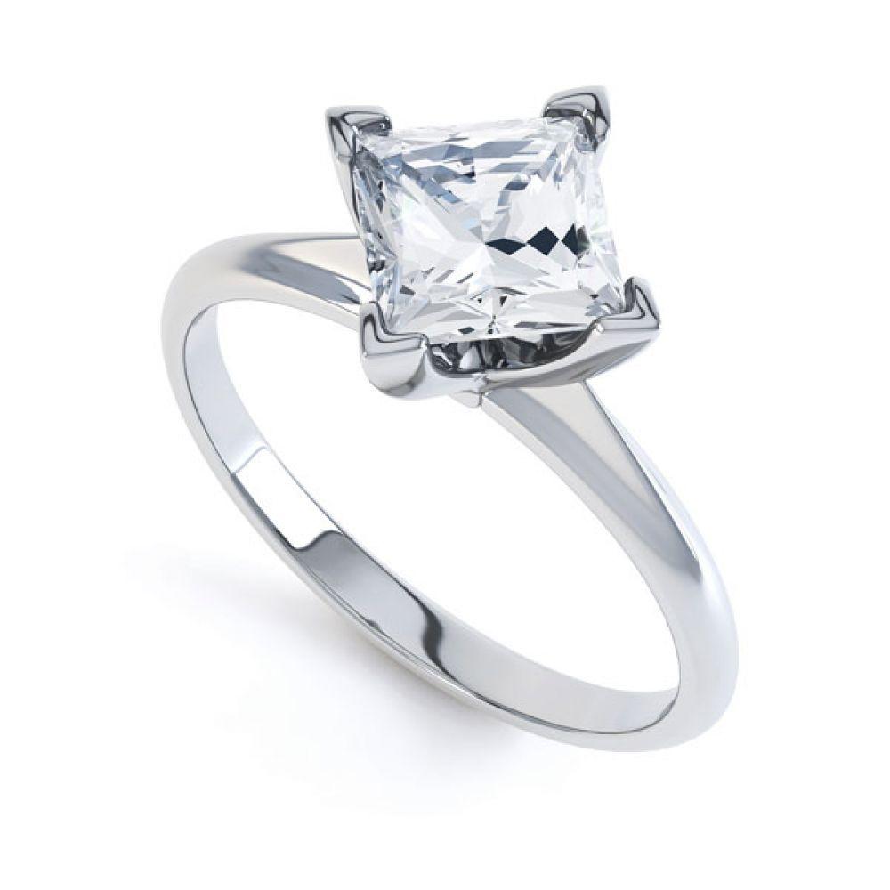 Compass Set 4 Claw Princess Cut Diamond Ring