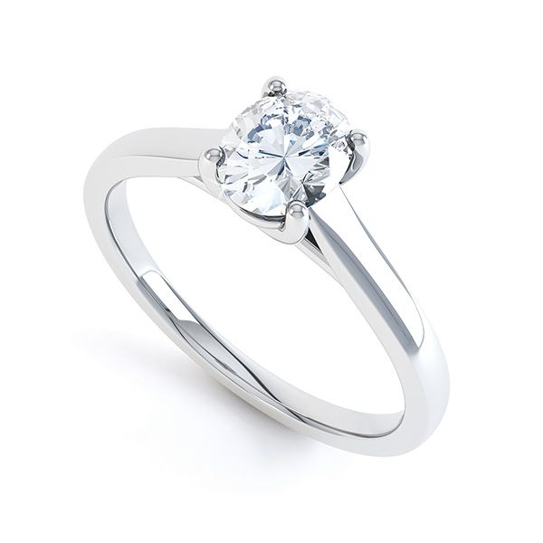 Zarah Oval Diamond Solitaire Engagement Ring Main Image
