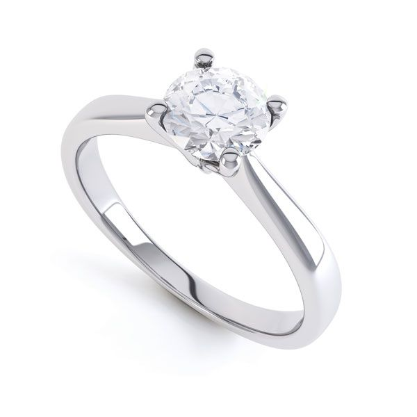 4 Claw Wedfit Round Solitaire Engagement Ring Main Image