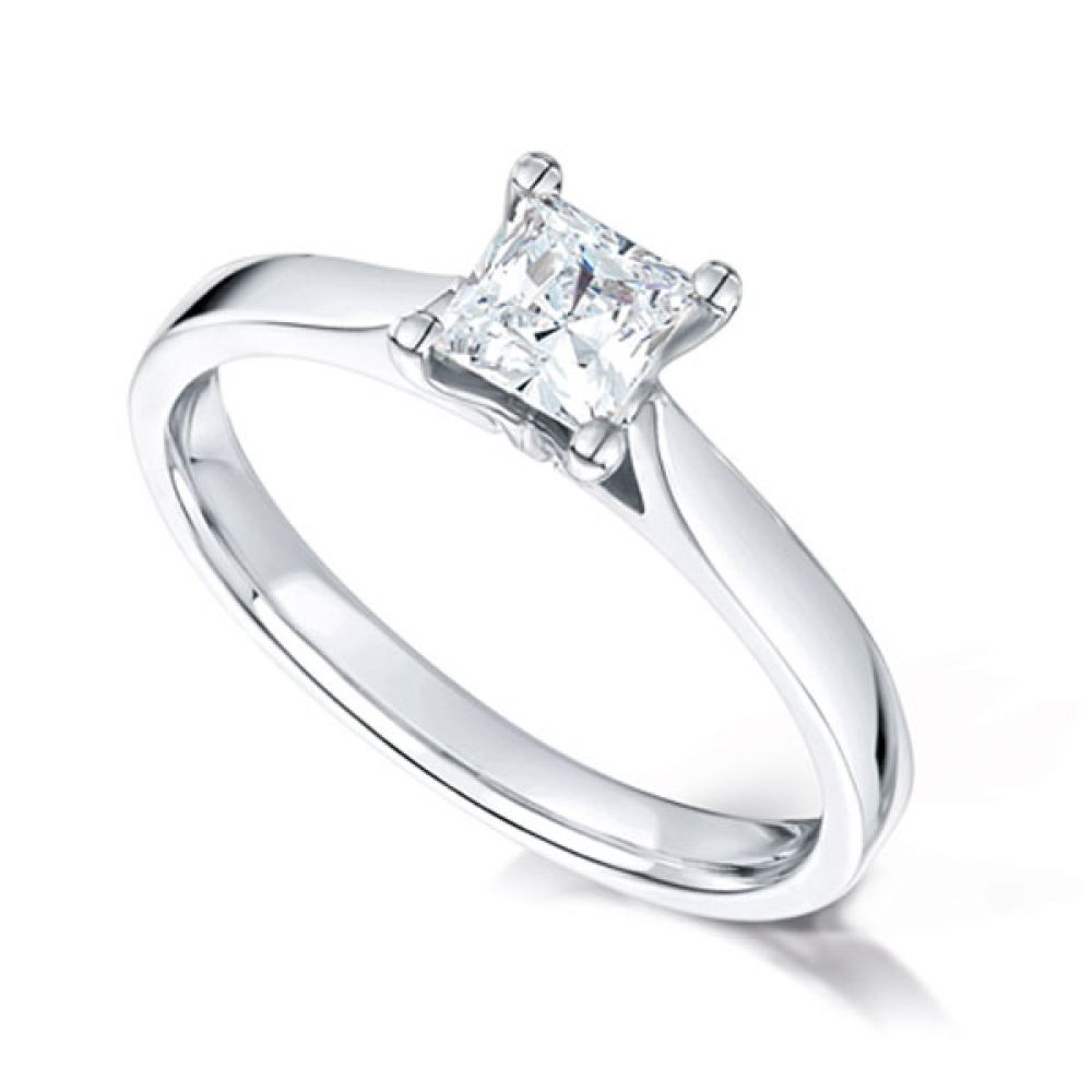Wedfit Four Claw Princess Diamond Ring