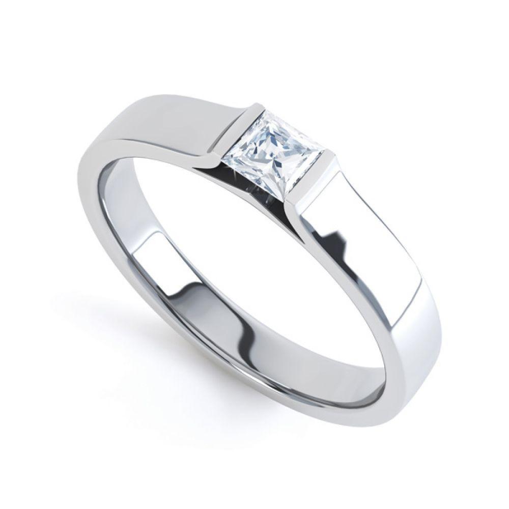 Tension Set Princess Diamond Solitaire Ring