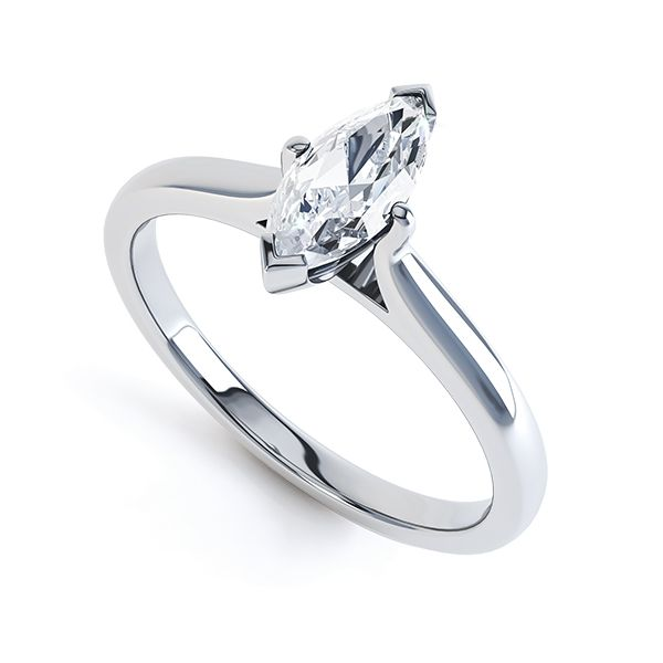 4 Claw Marquise Engagement Ring Main Image