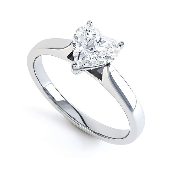 Angel Heart Shaped Solitaire Engagement Ring Main Image