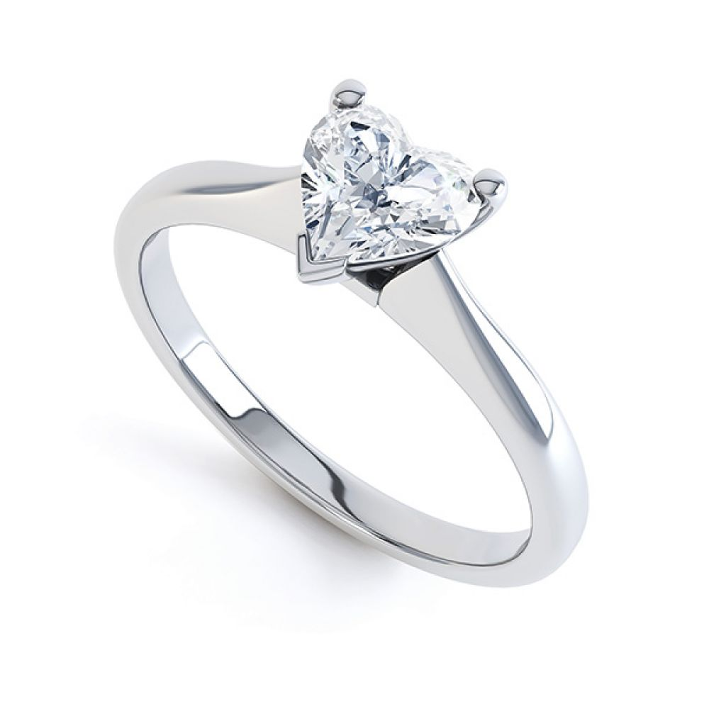 Aphrodite Heart Shaped Diamond Solitaire Engagement Ring