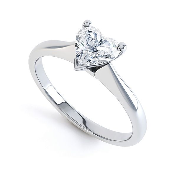 Heart-Shaped Diamond Solitaire Ring Main Image