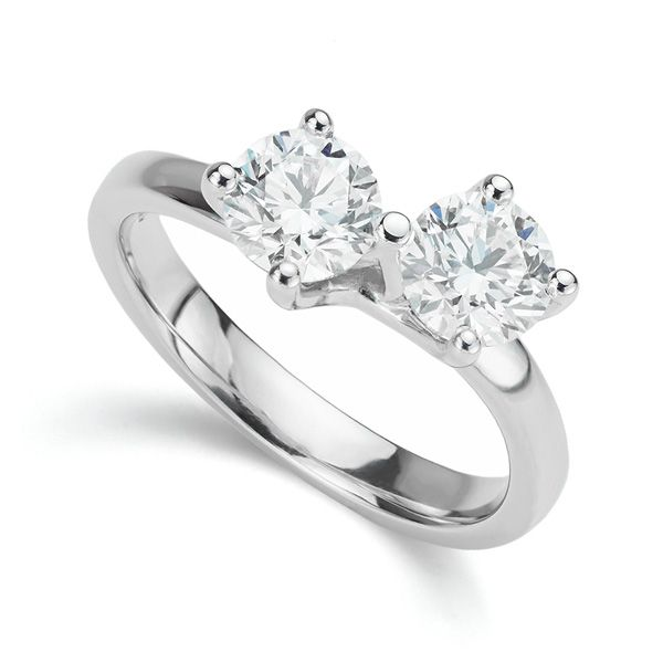 Two Diamond Twist Engagement Ring  Main Image