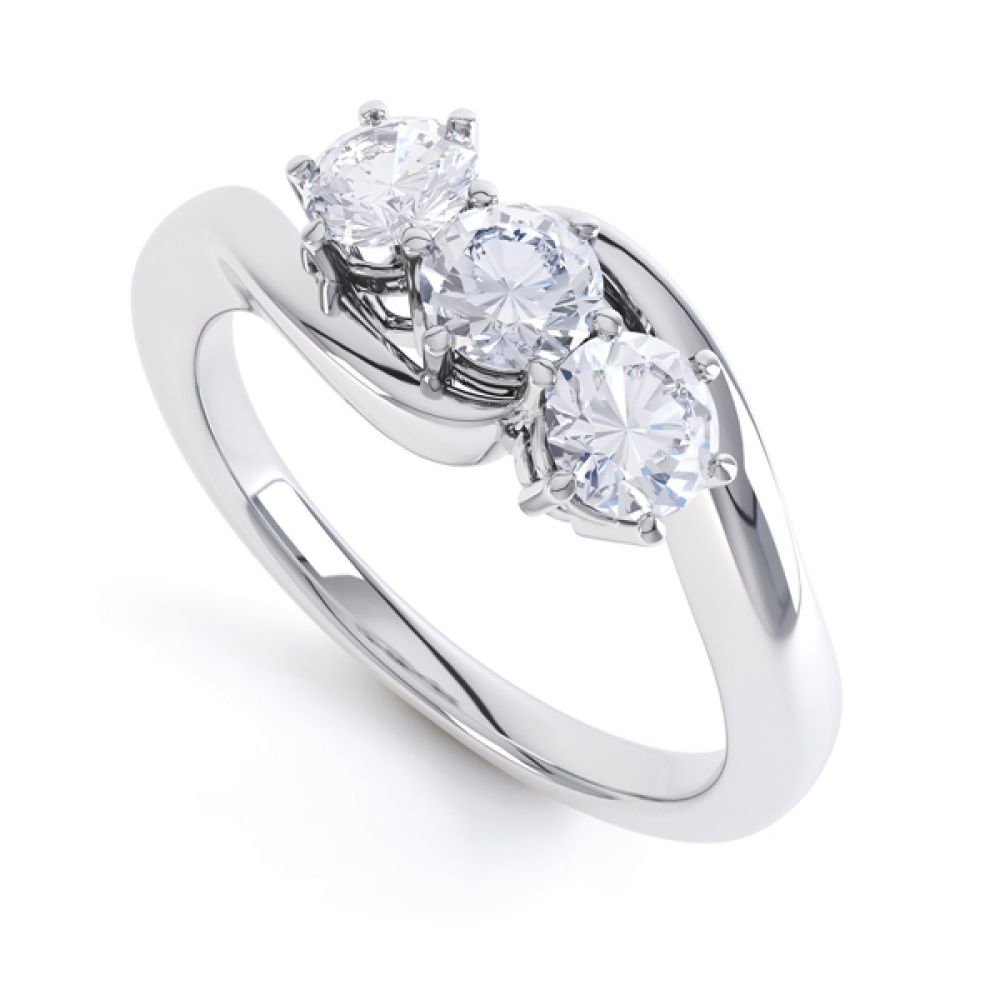 3 Stone Diamond Engagement Ring Claw Set