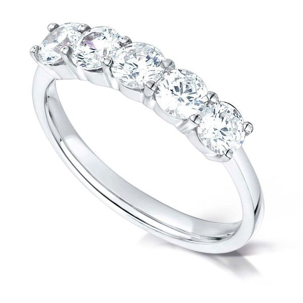 5 Stone Diamond Ring with Claw Setting Main Image