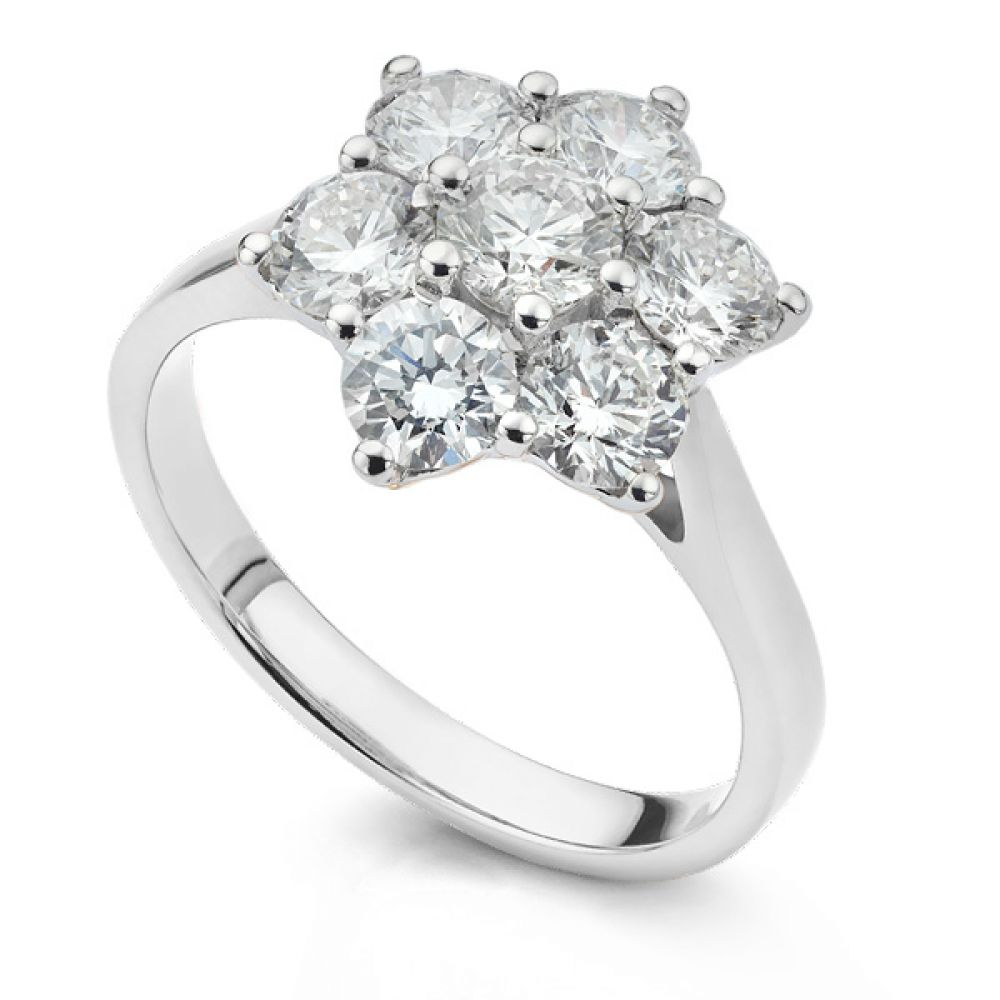 Daisy 7 Stone Diamond Cluster Engagement Ring