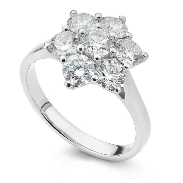 Diamond Daisy Cluster Ring  Main Image