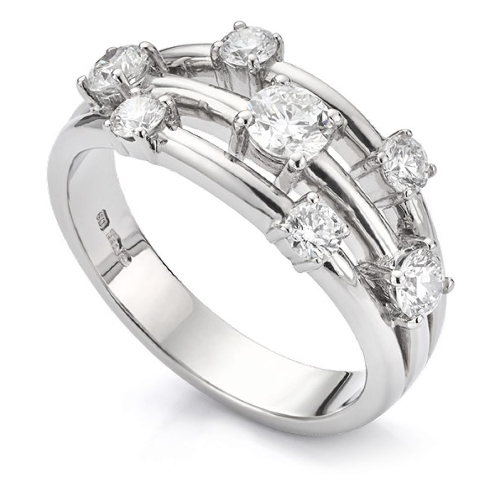 0.80 Carat 7 Stone Diamond Scatter Ring
