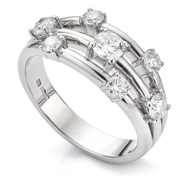 0.80 Carat 7 Stone Diamond Scatter Ring Main Image