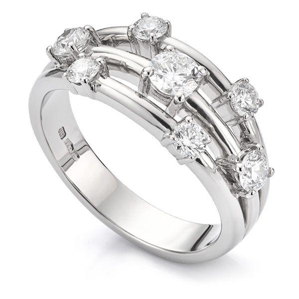 0.80 Carat 7 Stone Diamond Scatter Ring Main Image