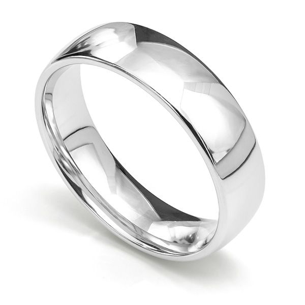 Slight Court Wedding Ring Medium Weight Main Image