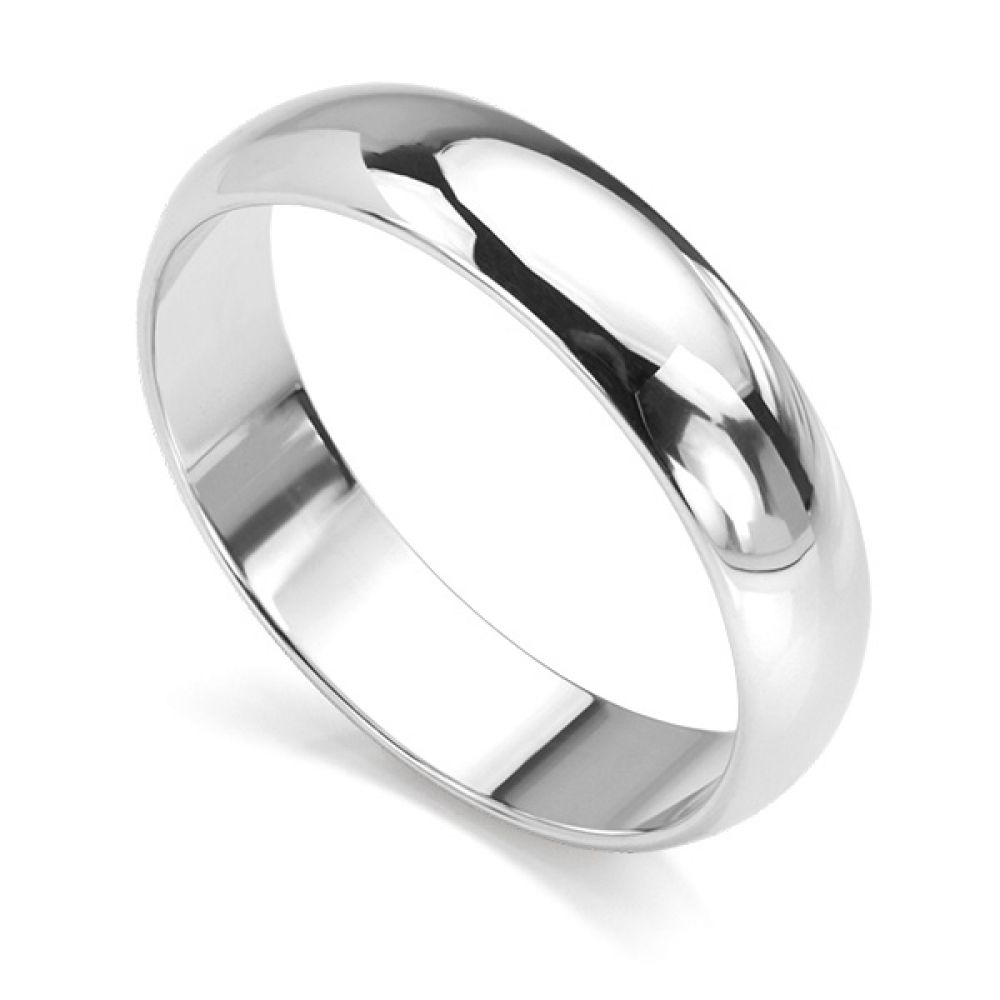 4mm version of the D shaped court wedding ring