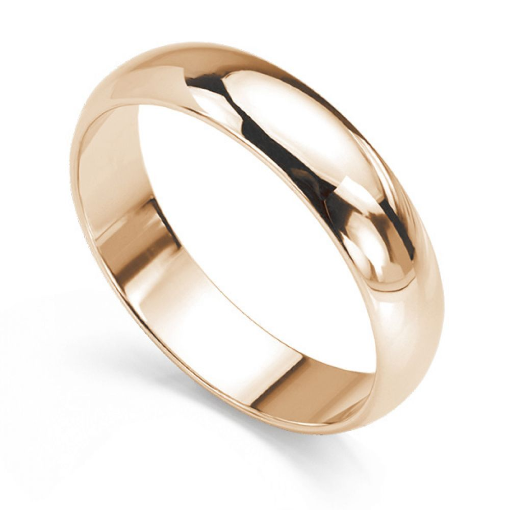 D Shape Wedding Ring Deep Comfort Fit Showing Different Widths