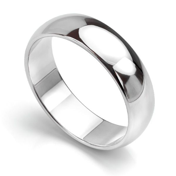 D Shaped Wedding Ring - Medium Weight Main Image