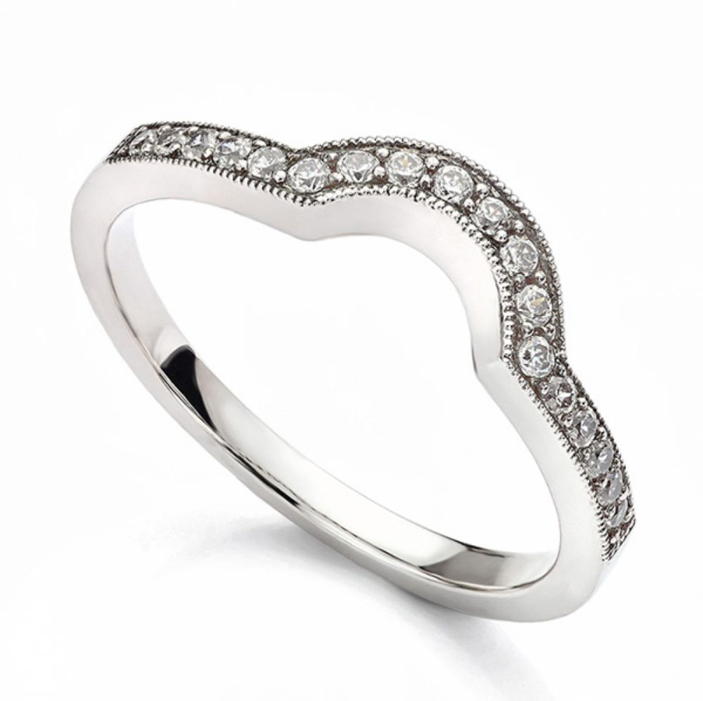 Horseshoe Shaped Diamond Wedding Ring