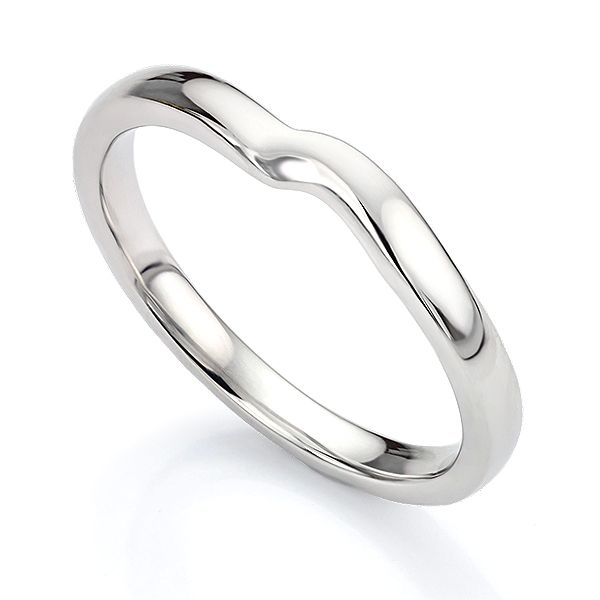 Shaped Wedding Ring for Twist Engagement Ring Main Image