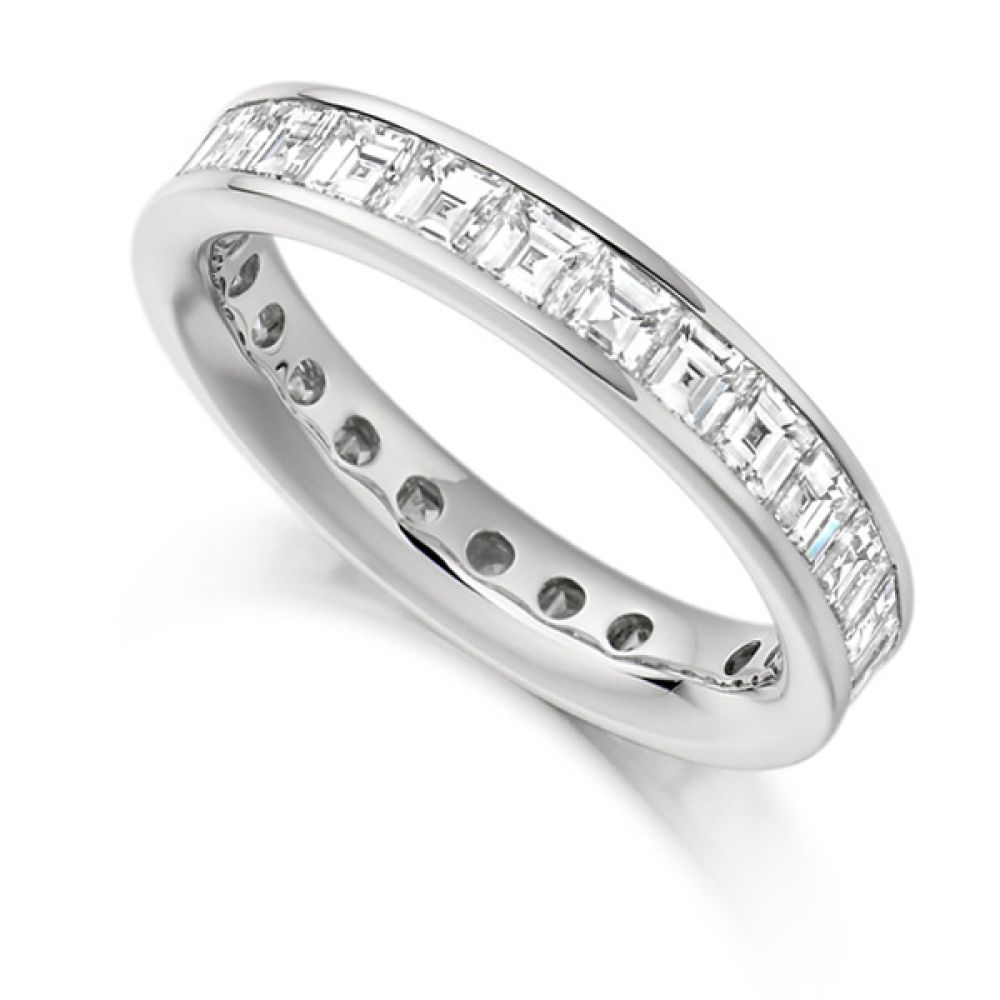 3 Carat Carré Cut Full Diamond Eternity Ring