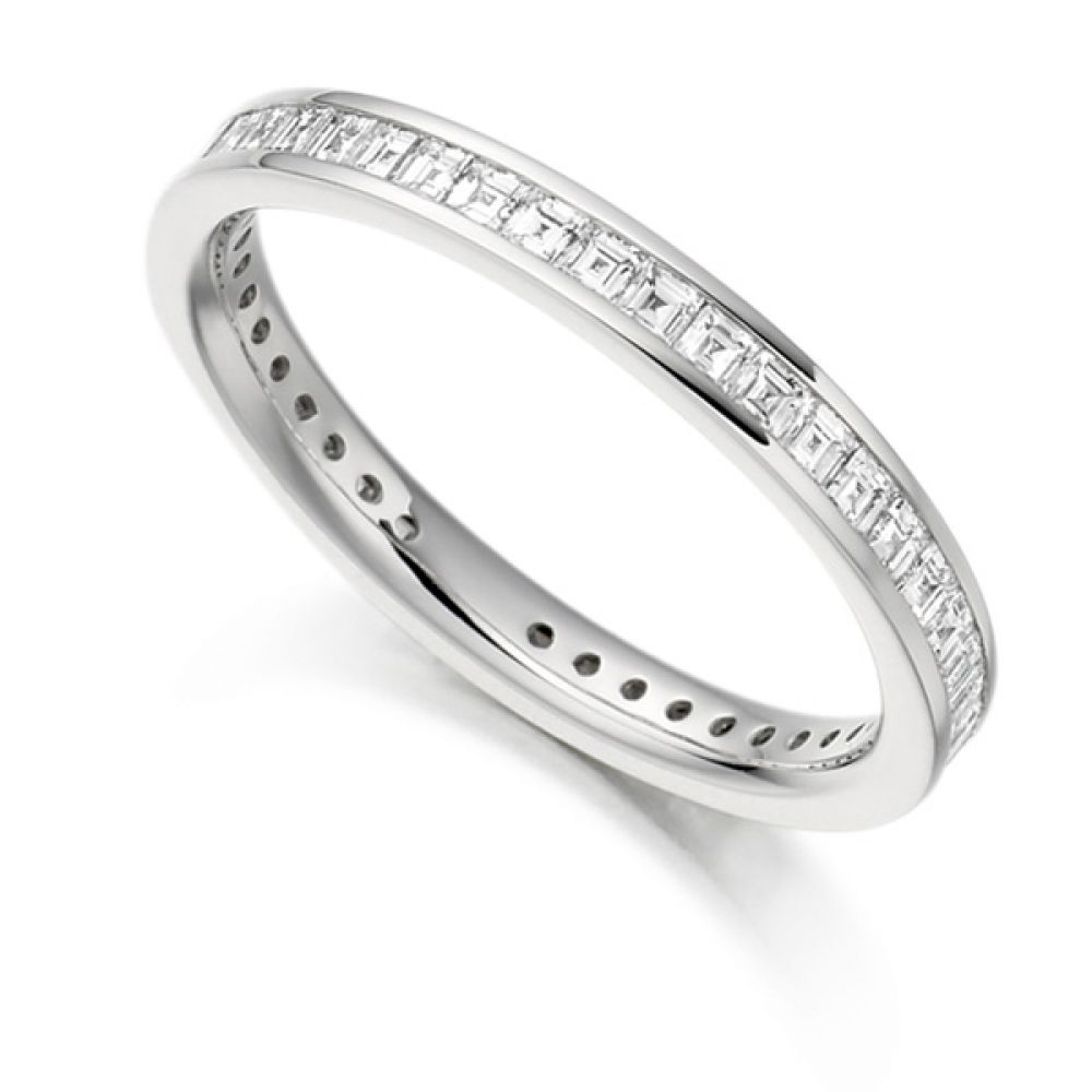 1 Carat Carré Cut Full Diamond Eternity Ring