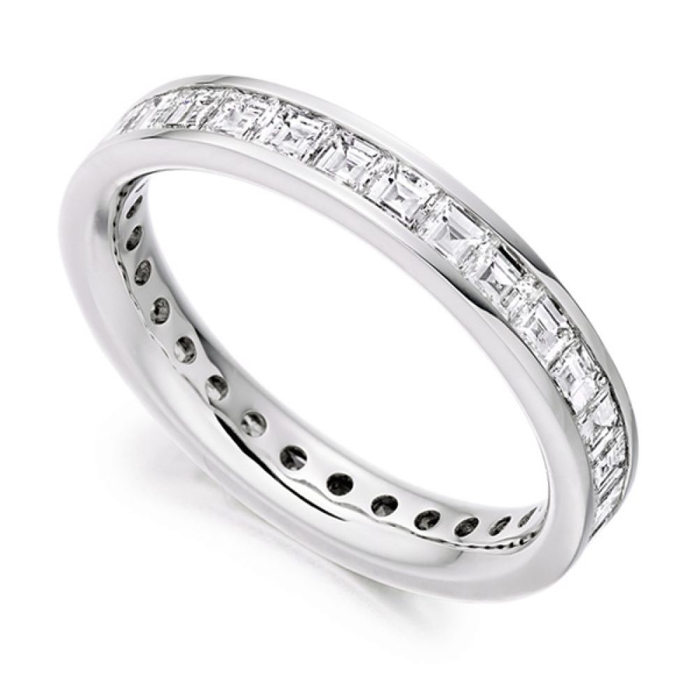2 Carat Carré Cut Full Diamond Eternity Ring