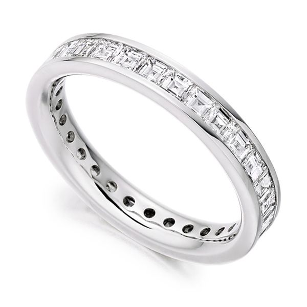 2 Carat Carré Cut Full Diamond Eternity Ring Main Image