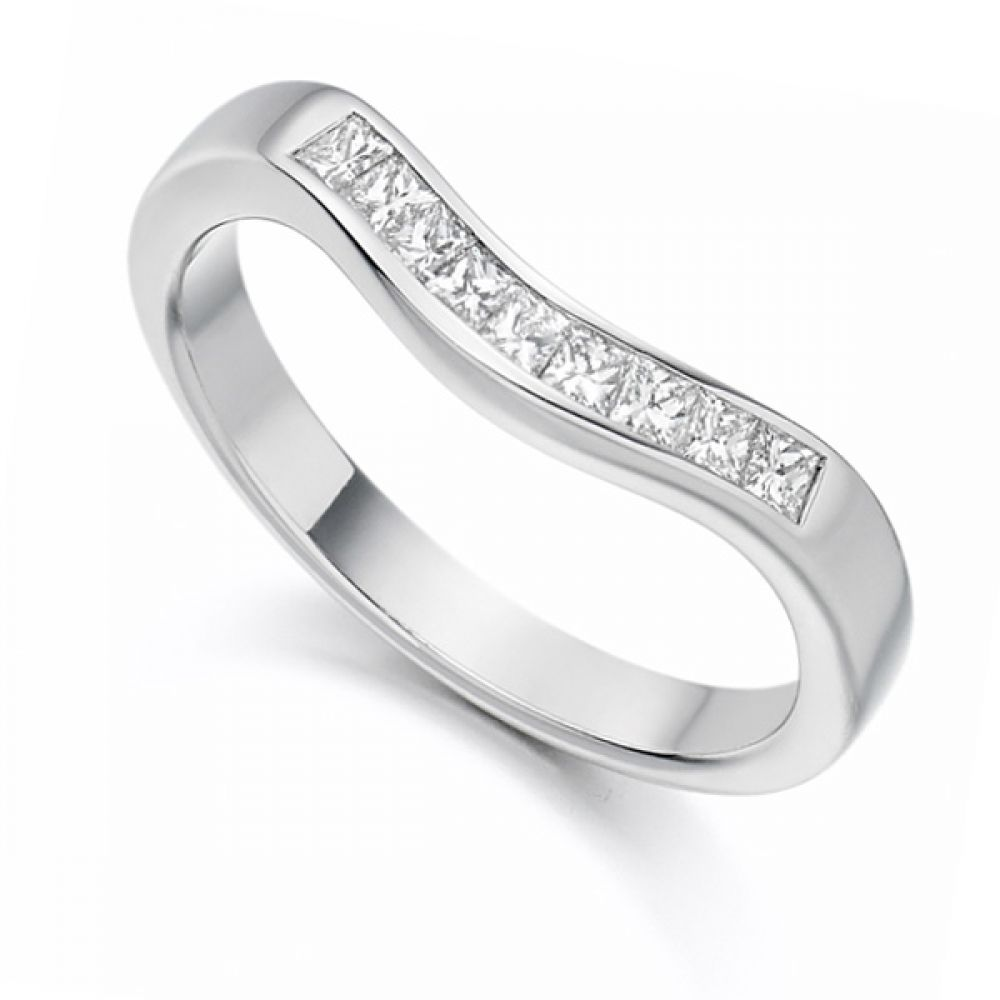 0.35cts Princess Cut Shaped Diamond Wedding Ring