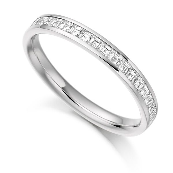 0.50cts Carré Cut Diamond Half Eternity Ring Main Image
