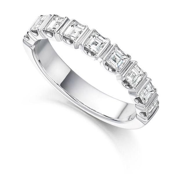 Hetrc1104 Ghrc007 1 Carat Square Diamond Eternity Ring
