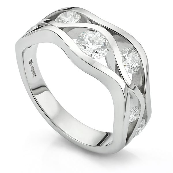 Diamond Wave Ring Main Image