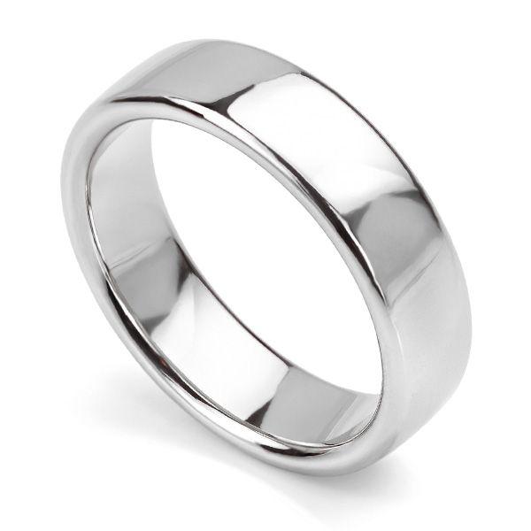 Slight Court Wedding Ring - Heavy Weight Main Image