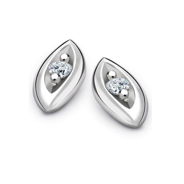 Entwine Diamond Platinum Earrings Main Image