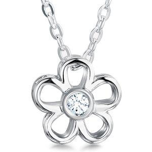 0.10cts Daisy Round Diamond Flower Pendant Main Image