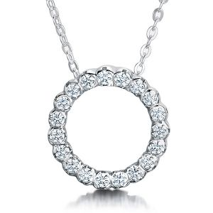 Round Diamond Circle Pendant Main Image