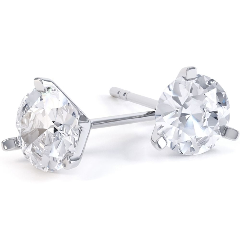 0.20cts 3 Claw Affordable Diamond Stud Earrings