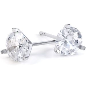 0.20cts 3 Claw Affordable Diamond Stud Earrings Main Image