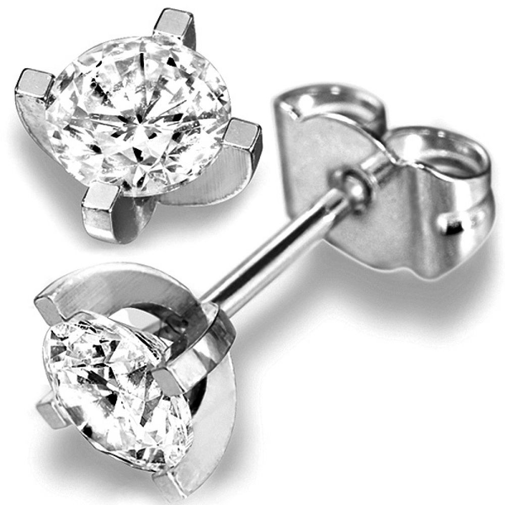 0.20cts 4 Claw Diamond Stud Earrings