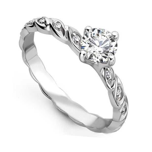 0.25cts Unique Entwine Styled Engagement Ring Main Image