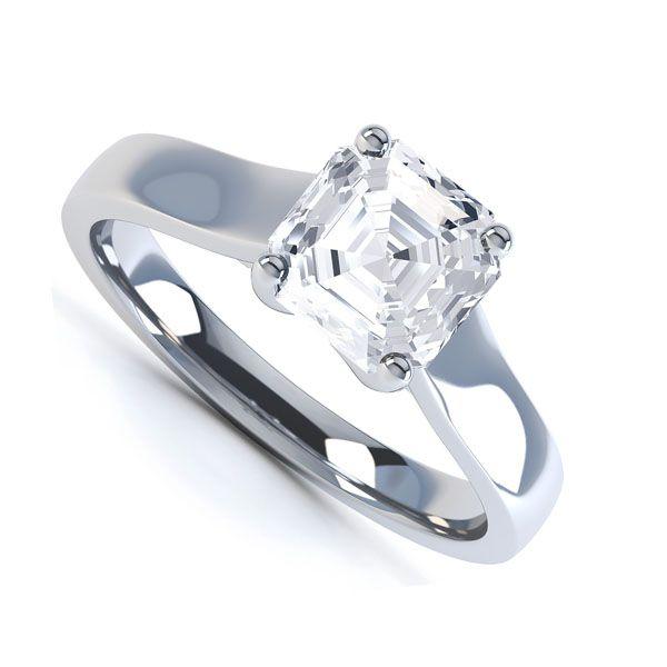 Asscher Cut Engagement Ring Main Image